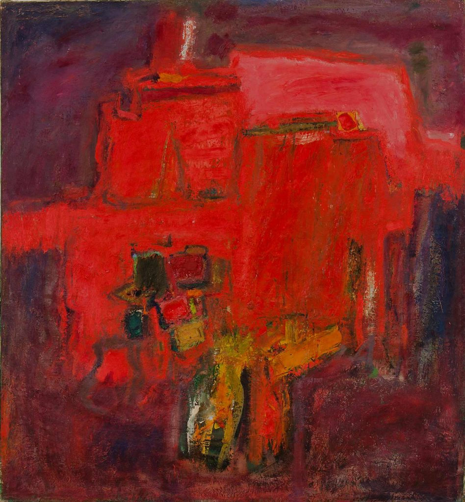 "Untitled (Anthe#117) 1958 Oil on linen 48""h x 44""w"